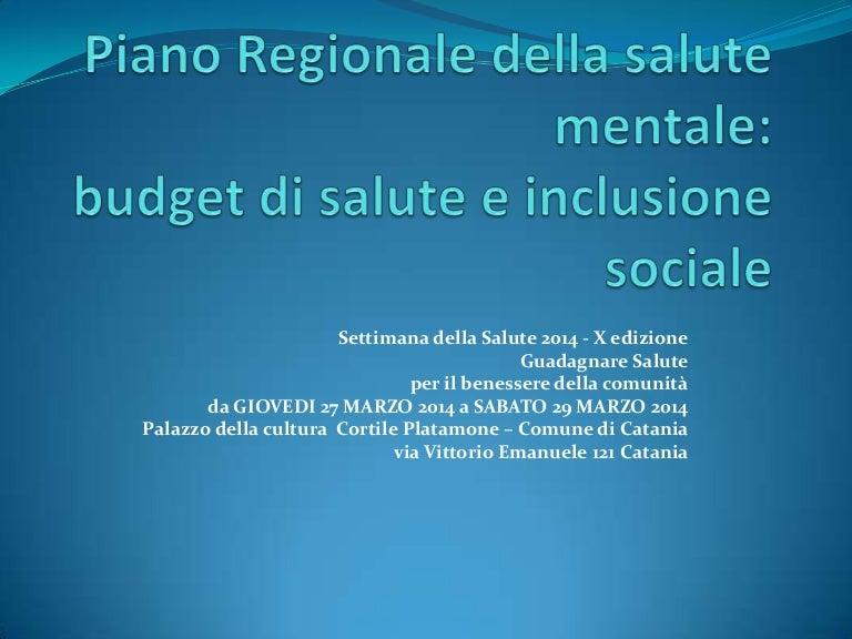 Settimana Della Salute 2014 X Edizione Catania Piano Regionale De