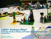 Elevator Pitch: LEGO® Serious Play®  — Strategic Decision Making & Problem Resolution with Fun!
