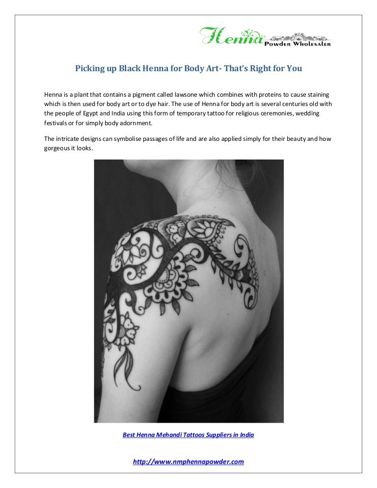 Picking Up Black Henna For Body Art That S Right For You