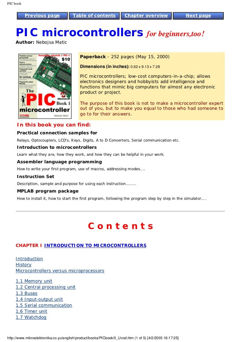 Pic Microcontrollers For Beginners Electronic Watchdog Circuit Free Circuits 8085 Projects