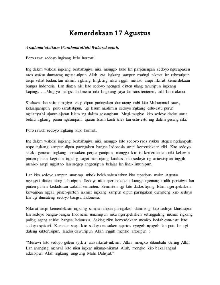 Contoh Pidato Bahasa Jawa Tentang Wirausaha Xmast 2