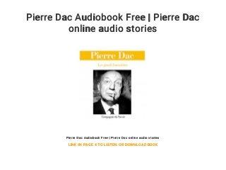 Pierre Dac Audiobook Free - Pierre Dac online audio stories
