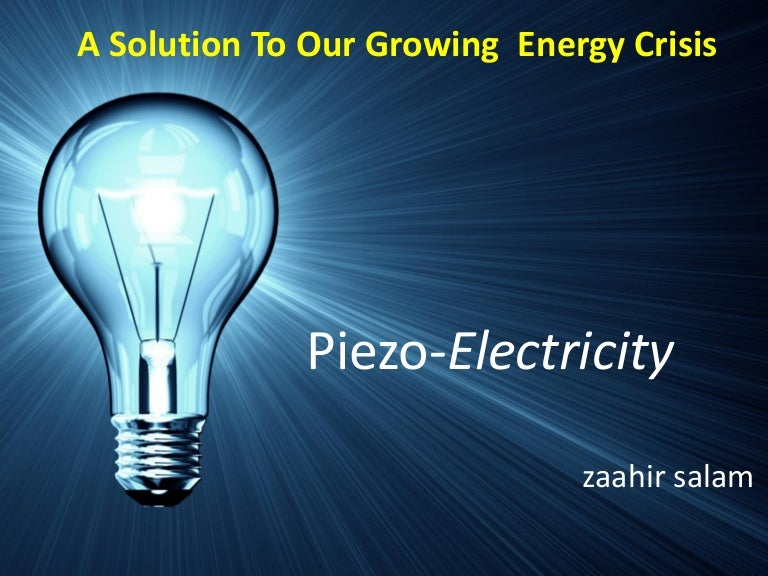 Piezoelectricity : Think Locally, Act Globally