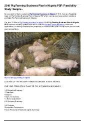 business plan for pig farming