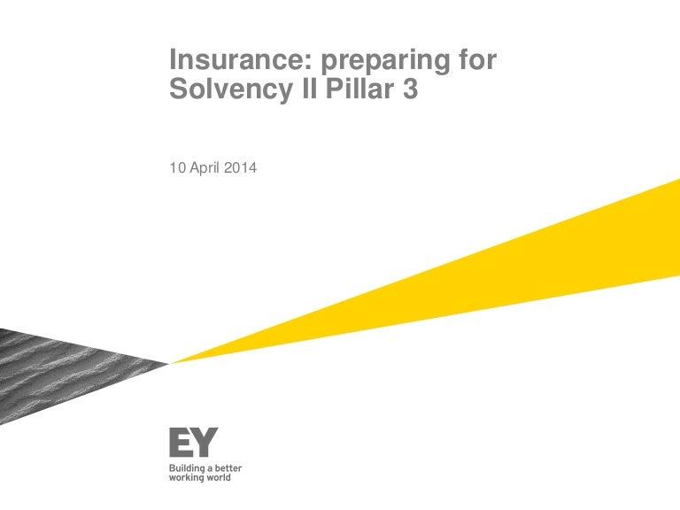 Insurance: preparing for Solvency II Pillar 3