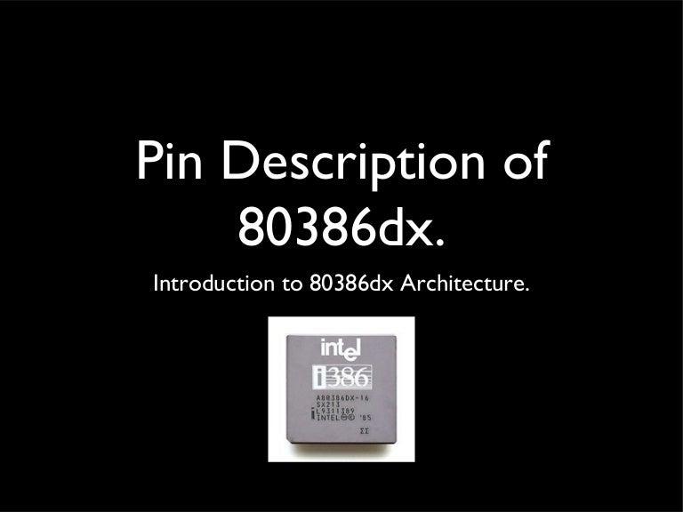 Pin Description Diagram Of Intel 80386 Dx Microprocessor
