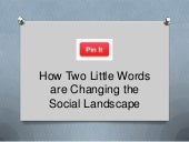 """Pin It"": How Two Little Words Are Changing the Social Landscape 