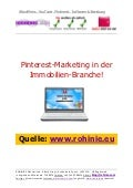 Pinterest im Immobilien-Marketing! / überarbeitet