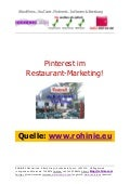 Pinterest im Restaurant-Marketing