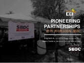 Pioneering Partnerships with your Local SBDC