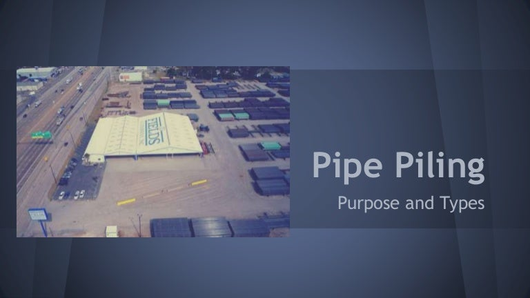 Pipe piling