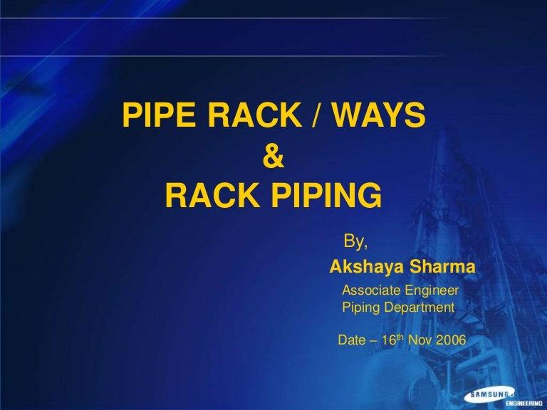 pipe rack rack piping rh slideshare net Heavy Duty Industrial Pipe Racks piping rack design guide