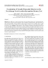 Examination of Sexually Dimorphic Behavior on the Novel-Image Novel-Location Recognition Memory Test
