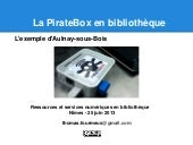 PirateBox en bibliothèques