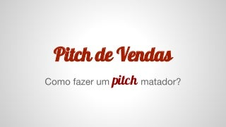 Pitch de vendas