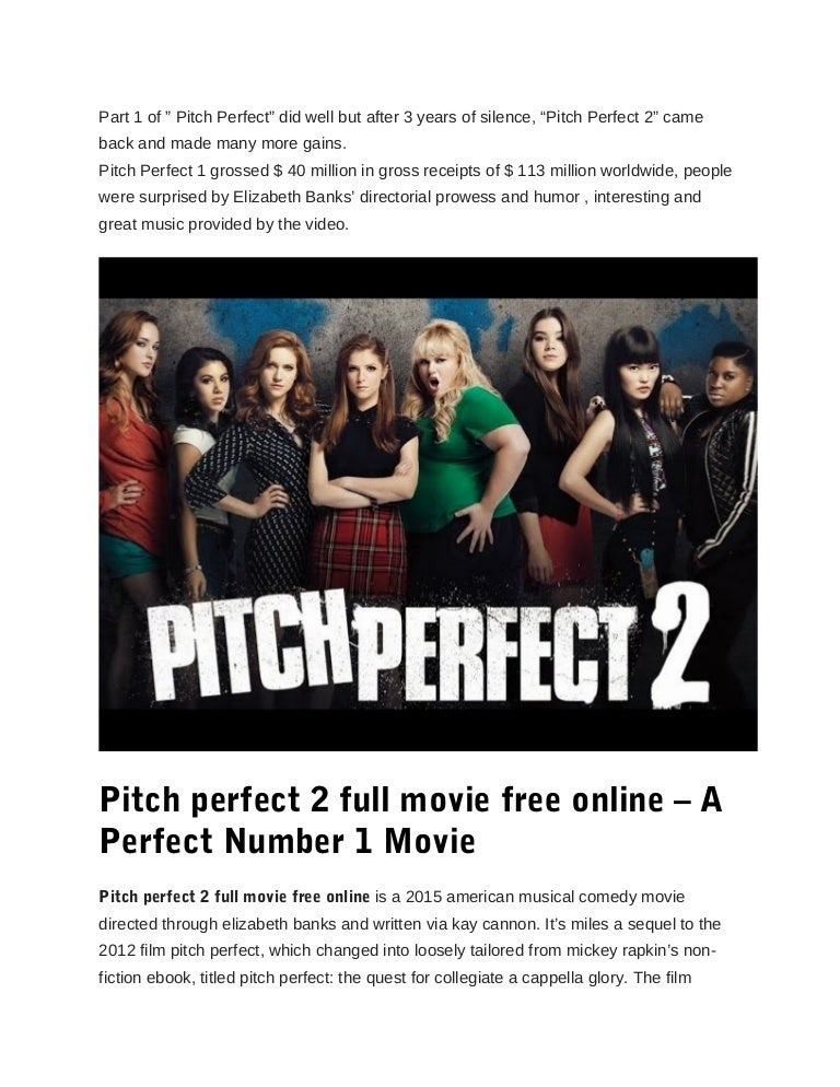 Pitch Perfect 2 Full Movie Free Online