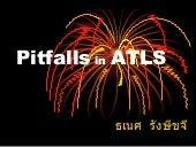 Pitfalls in ATLS 2007-12