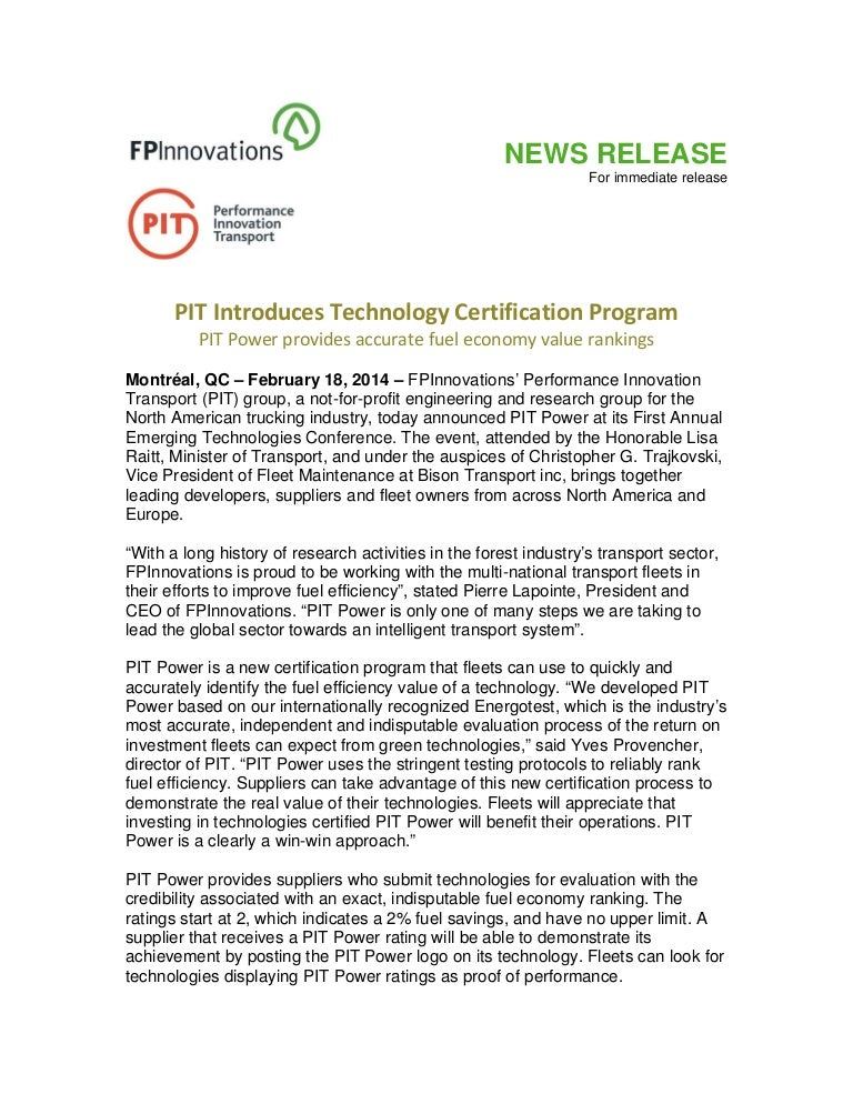 PIT Introduces Technology Certification Program