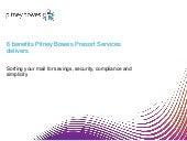 6 benefits Pitney Bowes Presort Services delivers