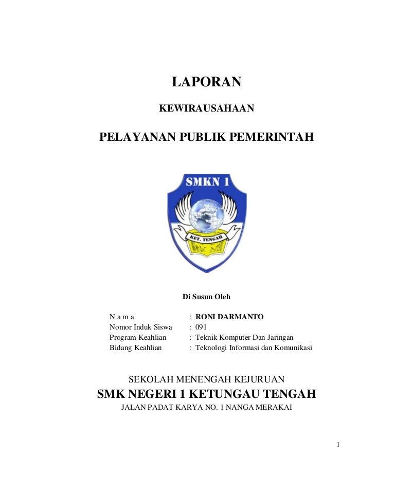 Pkl Pelayanan Publik Pemerintah