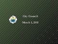 City Council March 1 - Planning Presentation