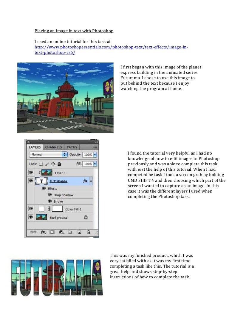 Placing an image in text with photoshop