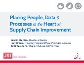 Placing People, Data & Processes at the Heart of Supply Chain Improvement
