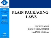 Plain packaging laws