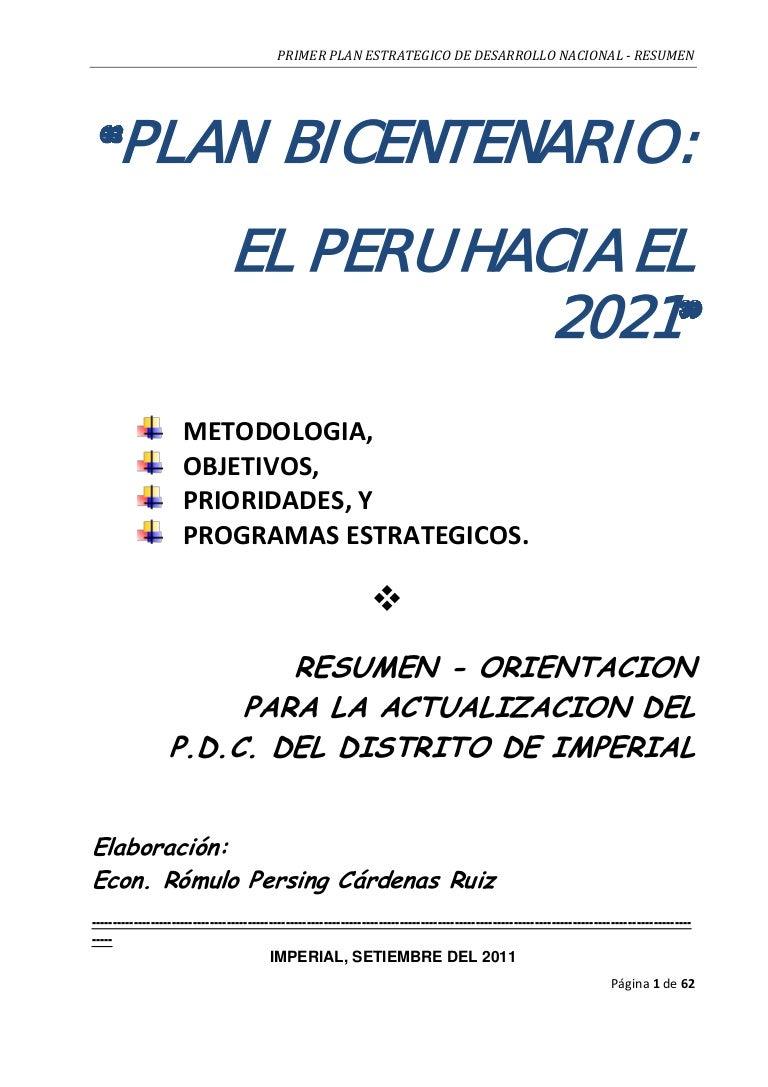 Plan 10604 plan_bicentenario_resumen_2011