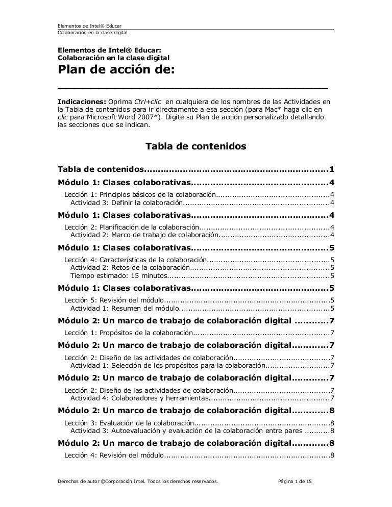 Plan accion colaboracion