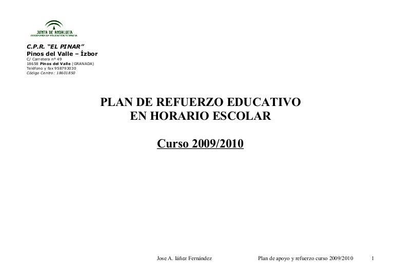 Plan De Apoyo Y Refuerzo