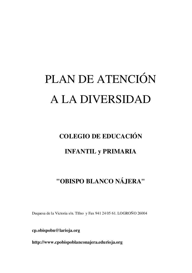 Plan de atención a la diversidad \'Obispo Nájera\'