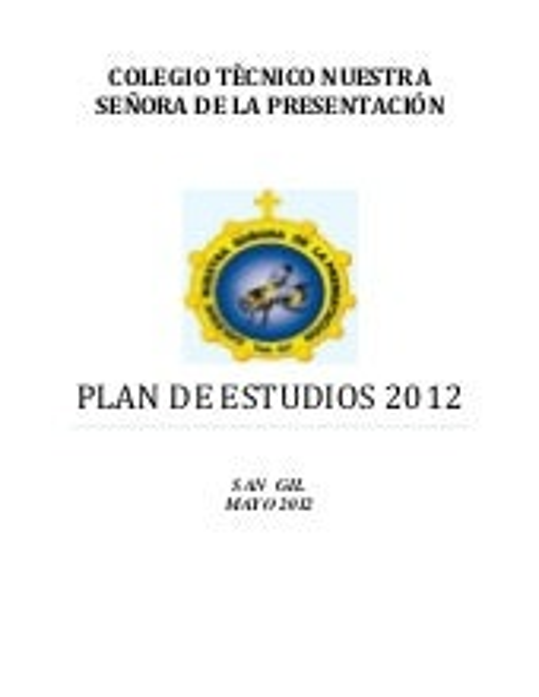 Plan de estudio 09052012