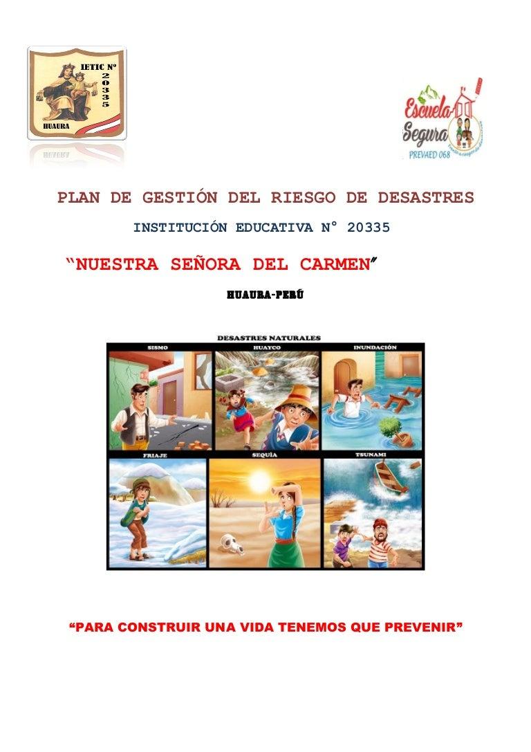 PLAN DE GESTION DE RIESGO EN UN COLEGIO