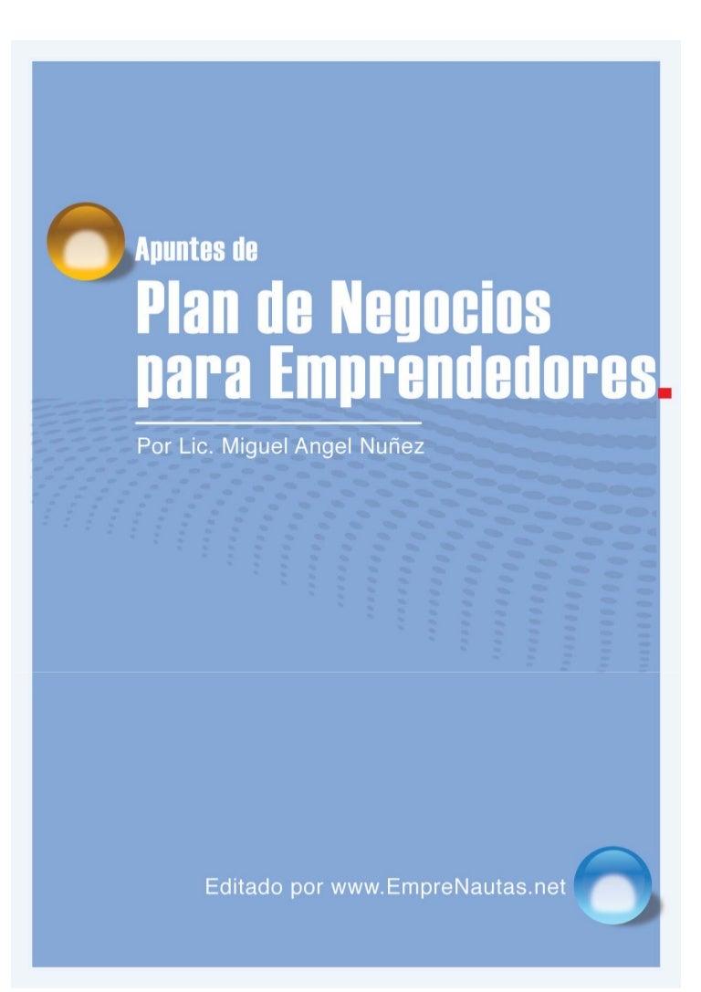 Apuntes de Plan de negocios para emprendedores