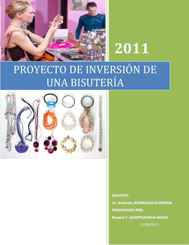 e8497453c632 Plan de negocios bisuteria ry