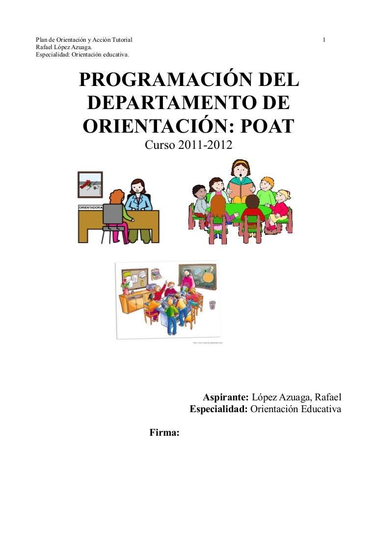 Plan de Orientación y Acción Tutorial (Modelo Andalucía)
