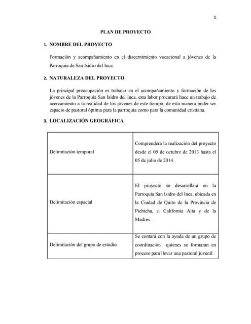 Plan de proyecto (Prácticas Pre-profesionales)