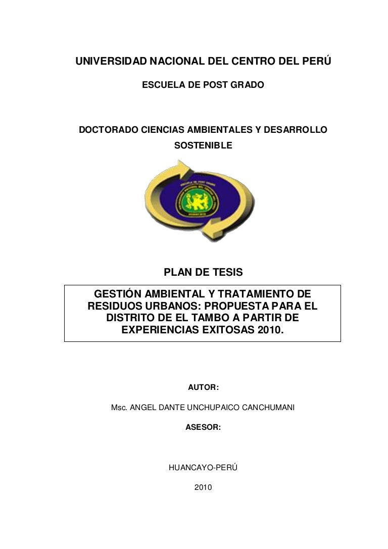 Plan de tesis for Proyecto restaurante pdf