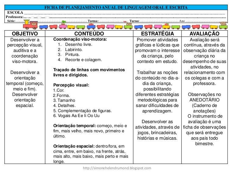 Plano de aula educação infantil 3 anos semanal