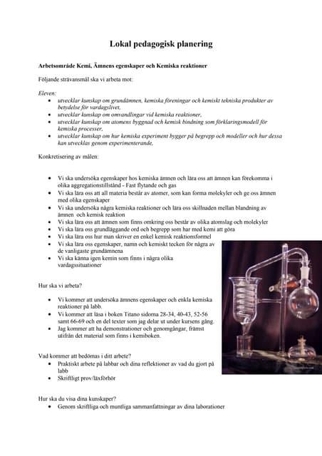 Planering Kemi I 7 A Ma Vt 10