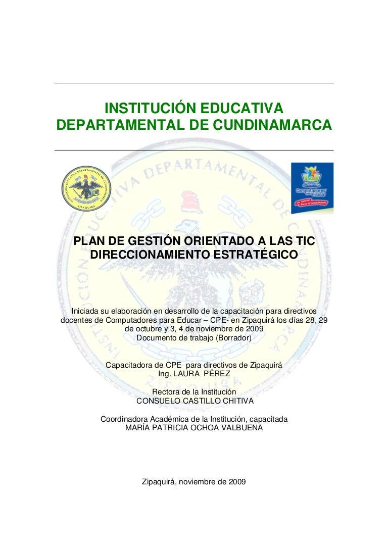 Plan Estrategico Institucional Tic Iedc