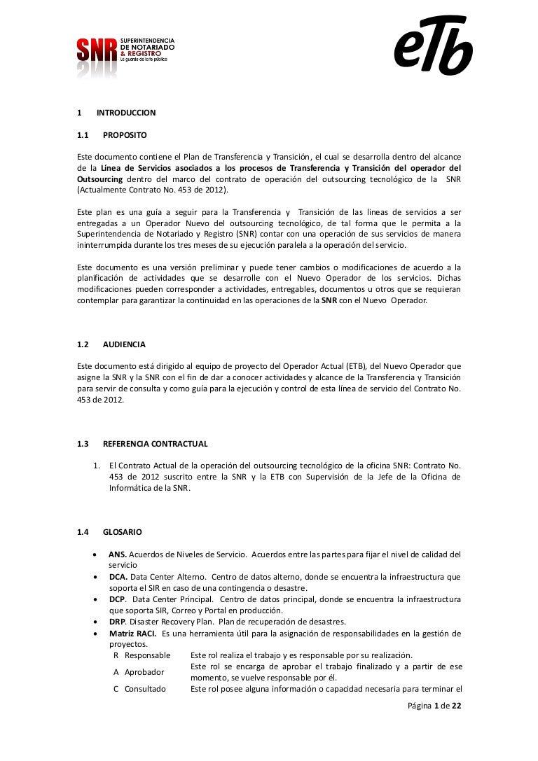 Plan gestion proceso transferencia v 1.0