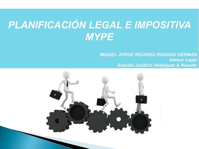Planificación legal e impositiva