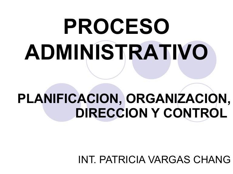 Planificacion , Organizacion, Direccion Y Coordinacion