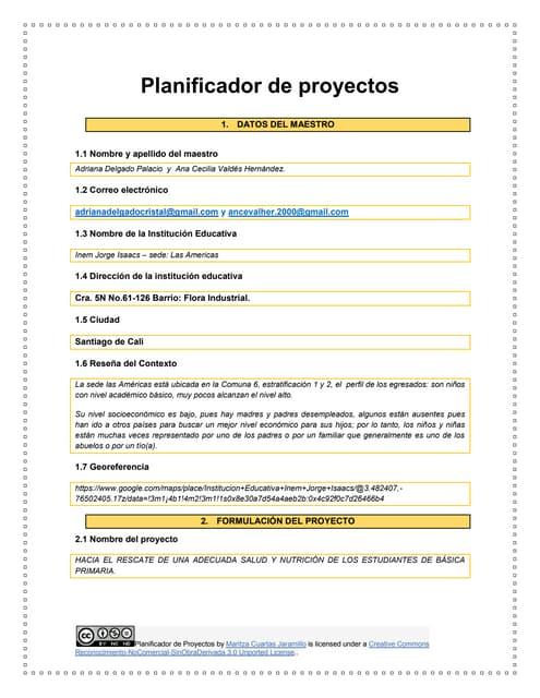 Planificador de proyectos  2