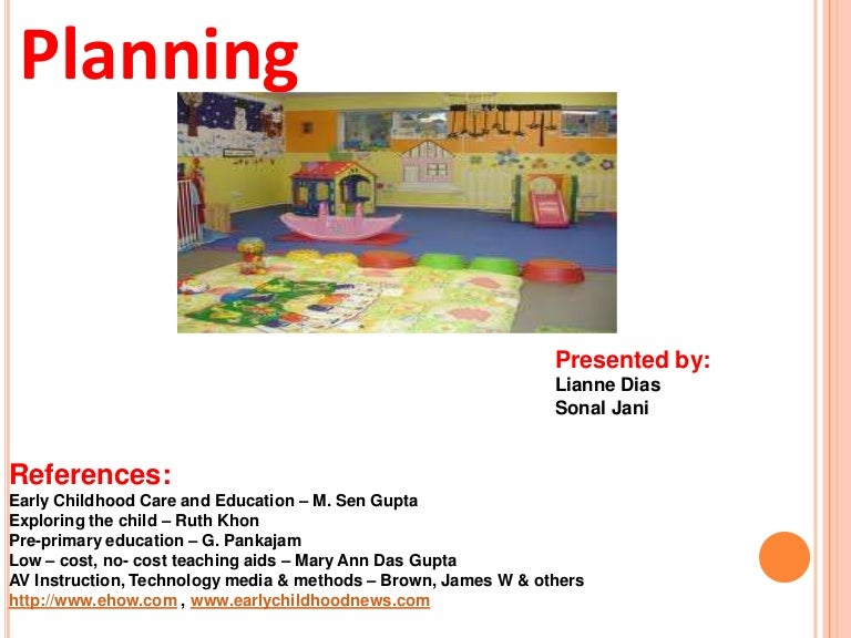 Planning in a Day care centre
