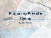 Planning private flying