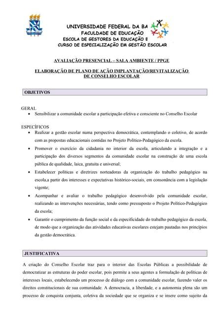 Plano de ação- UFBA
