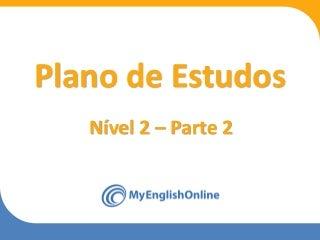 Plano de estudos - nivel 2 - parte 2